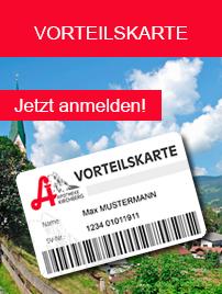 Melden Sie sich zur Vorteilskarte der Apotheke Kirchberg an